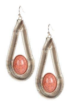 snake chain teardrop earrings