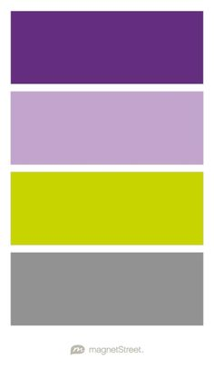 Plum, Lilac, Chartreuse, and Classic Gray Wedding Color Palette - custom color palette created at MagnetStreet.com