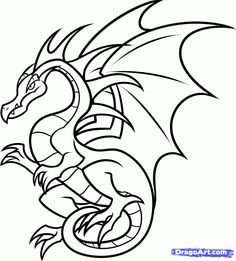 how to draw a flying dragon for kids step 8