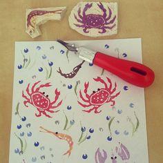 Bichitos de mar by I DO PROYECT. Sea animals. http://idoproyect.com/producto/sellos/carvado-de-sellos/
