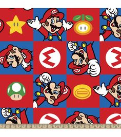 Nintendo® Super Mario Brothers™ Hands Up Fleece Fabric