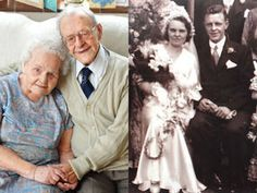 THEY have a combined age of 208 and are officially Britain's oldest married couple – having just celebrated 77 years of marriage.