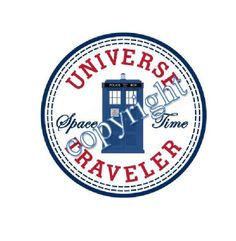 Doctor Who Space Time Label by TimeyWimeySpacyWacey on Etsy, $3.50
