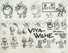 """Ub Iwerks   Model Sheet of """"Viva Willie"""" (1934)"""