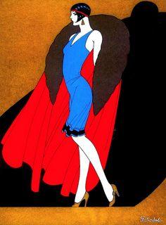 "Discovering Ernesto ""El Chango"" García Cabral... colours and style ! Here's ""La Dama del Abrigo"" - 1927 Ernesto ""El Chango"" García Cabral - 1890-1968 - Mexican draftsman, painter, tango dancer, Greco-Roman wrestler, silent film and early television pioneer, cartoonist, illustrator, and muralist. http://www.libroslatinos.com/libros/images/pdfs/ERNESTO_GARCIA_CABRAL.pdf http://fr.wikipedia.org/wiki/Ernesto_Garc%C3%ADa_Cabral"