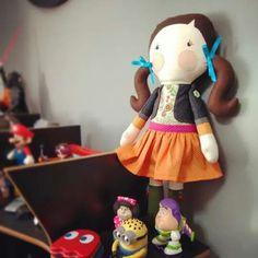Boneca de Pano Gigi Serelepe