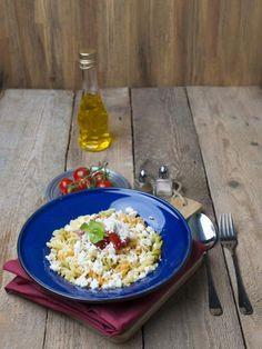 salade de pâtes au chèvre - Recette de cuisine Marmiton : une recette