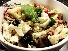 Quinoa Power Bowl | Less than 200 Calories, Protein-Packed | #Easy Dinner To Throw Together | #Vegetarian #Quinoa | For MORE RECIPES please SIGN UP for our FREE NEWSLETTER www.NutritionTwins.com
