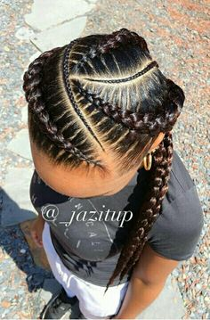 I want Ghana braids for my hairstyle Black Girl Braids, Braids For Black Hair, Girls Braids, Braids For Black Kids, Cornrows For Little Girls, Braids For Kids, African Braids Hairstyles, Girl Hairstyles, Latest Hairstyles