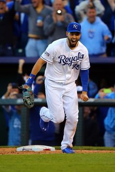 Eric Hosmer, Kansas City Royals- I vividly remember this moment! Hoz collected the final out, thrown from Moose  at third, and the Royals were headed to the WORLD SERIES for the first time in 29 years!