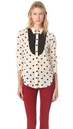 great take on a polka dot blouse