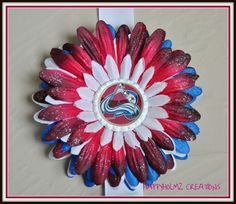 Colorado Avalanche Hockey inspired Daisy by HappyHolmzCreations, $6.50