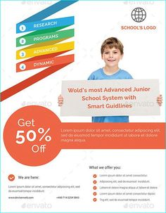 20 Professional Educational PSD School Flyer Templates ...