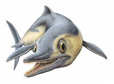 Opthalmosaurus swimming.