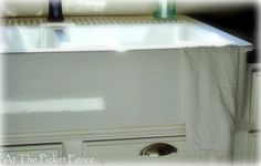 my tutorial on installing Ikea farmhouse sink in existing cabinet.