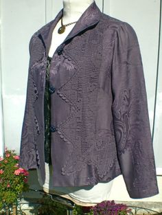 SALE Retro Edwardian swing jacket md frm upcycled by MuseClothing