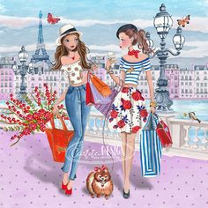 Illustration by Caroline Bonne Muller at Cartita Design