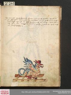 Merkel Hs 2° 241  Schembartbuch [o.O.]: 1551/1600 Illustration: Hölle: Basilisk
