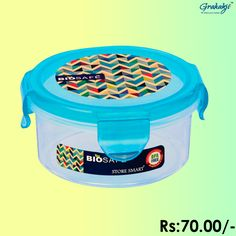BIO SAFE ROUND CONTAINER 250 ML #BioSafe #EcoProducts #ContainerSet #online #grahakji #ContainerSet #shopping #lunchbox