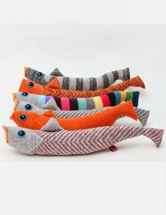 Knitted fish by Kate Jenkins: as seen on MLKBTTL: October 2014