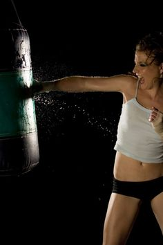 I asked my husband to teach me how to box, yesterday he was watching me and he said, 'wow you look hot'.....best feeling ever!!!!!!!!!
