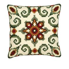 Patterned Cross Stitch Cushion Kits from Sew Essential. Patterned Cross Stitch Cushion Kits available with free delivery on all eligible orders. Cross Stitch Borders, Modern Cross Stitch, Cross Stitch Kits, Cross Stitch Designs, Cross Stitching, Cross Stitch Embroidery, Cross Stitch Patterns, Needlepoint Pillows, Needlepoint Patterns