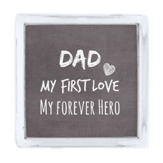 Dad and Daughter Quote: First Love, Forever Hero Silver Finish Lapel Pin #fatherofthebride #dad