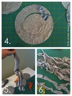 cutting spirals t shirt scarf  bufanda