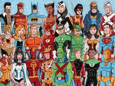 I wanted to draw all the versions Bruce Timm has done of Wonder woman. For those who don't know the one in the middle is the newest wonder woman Bruce timm has done for his upcoming movie named: Ju. Dc Comics Heroes, Arte Dc Comics, Justice League Characters, Wonder Twins, Dc Trinity, Superhero Shows, Justice League Unlimited, Bruce Timm, Comic Page