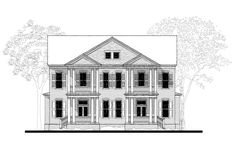 03425-2 (Townhouse) House Plan (03425-2) Design from Allison Ramsey Architects