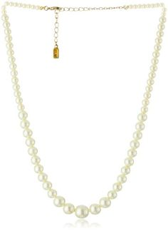1928 Bridal Eloquence Delicate Faux Pearl Necklace - 1928, Bridal, Delicate, Eloquence, Faux, Necklace, Pearl http://designerjewelrygalleria.com/1928-jewelry/1928-necklaces/1928-bridal-eloquence-delicate-faux-pearl-necklace/