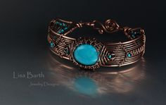 Here is one of the latest projects for the book, an advanced piece with a center focal stone.  Lisa Barth