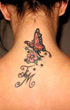 Butterfly tattoo tattoos tattoos, feminine tattoos и tattoos Butterfly Tattoo Meaning, Butterfly Tattoos For Women, Butterfly Tattoo Designs, Back Of Neck Tattoo, Flower Tattoo Back, Flower Tattoo Shoulder, Flower Tattoos, Dream Tattoos, Body Art Tattoos