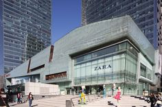 Gemdale Plaza project was built in 2007 as a business hub near Beijing's commercial core. Shopping Mall Architecture, Retail Architecture, Commercial Architecture, Architecture Design, Mall Facade, Retail Facade, Facade House, Shoping Mall, Mix Use Building