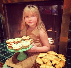 'My sweet little baker' Tori Spelling's daughter Stella couldn't wait to get her hands on the treats