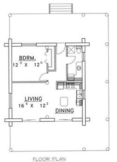 tiny house plan.  loft upstairs for kiddos