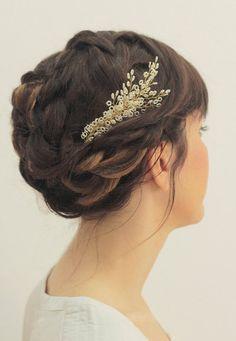 SALE Bridal headpiece weddings hair vine wedding by liricabylironc