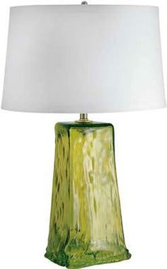 Chartruese Recycled Glass Table Lamp