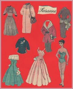 Susanne - newspaper PD - 1950s* 1500 free paper dolls at artist Arielle Gabriel's The International Paper Doll Society also free China paper dolls at The China Adventures of Arielle Gabriel, the Canadian travel site on Hong Kong & China