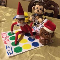 Elves love to get silly on egg nog and play this. From leslielarch.