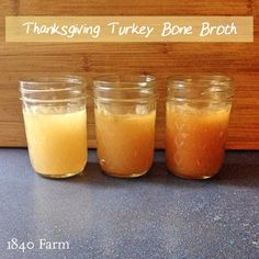 If you have been thinking of giving bone broth a try, Thanksgiving is the perfect time.  Your turkey will provide enough bones to make a few batches of this amazing broth.  I'll be putting on a pot of bone broth as soon as our Thanksgiving dinner is finished.  Will you?  How to Make Thanksgiving  Turkey Bone Broth » 1840farm.com