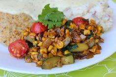 Cheesecake Factory Corn Succotash by Deals to Meals--a simple and healthy side dish recipe your whole family will love!