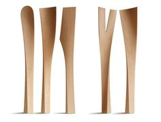 Wood Spoons by Studio Vertijet : Originally sketched for Authentics this kitchen cutlery is called WoodyKellen