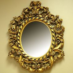 Maybe an intricate gold-framed mirror?