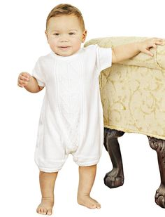 Braeden 3 Month Knit Christening Baptism Blessing Outfit for Boys