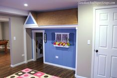 Play room....using an existing closet.  How cool is that?  Two of our three bedrooms do have two closets in them...