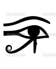 "The right eye, the Eye of Ra. Mirror image this eye & you have the Eye of Horus - my next tattoo. Egyptian, the ""all-seeing"" eye, often associated with wrath & terror (referencing the battle between brothers Hours and Set), but also associated with protection (funerary amulets often took the shape of the Wadjet, aka, the Eye of Horus, as it was intended to protect the pharaoh in the afterlife & ward off evil), good health, royal power (Hours was the son of a God & Goddess & was a god…"