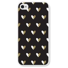 BRIKA Gold Heart Iphone 6 Case Black With Gold Hearts 99990br02147-6 (665 NIO) ❤ liked on Polyvore featuring accessories, tech accessories, phone cases and electronics accessories