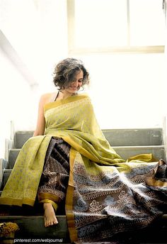 Cotton Saree by Suta, very elegant, love the colors