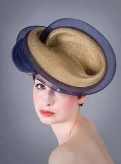 William Chambers Millinery | Crin Edged Milano Twist | Gold and Headpieces | LOVEHATS.COM